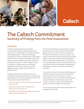 The Caltech Commitment: Summary of Findings from the Final Assessment
