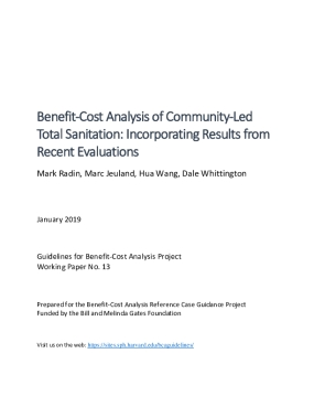 Benefit‐Cost Analysis of Community‐Led  Total Sanitation: Incorporating Results from  Recent Evaluations