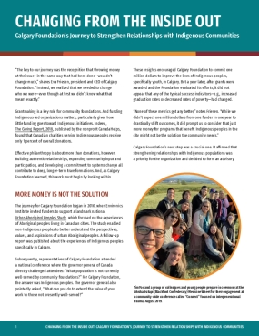 Changing from the Inside Out: Calgary Foundation's Journey to Strengthen Relationships with Indigenous Communities